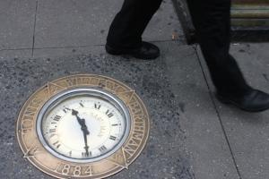 Sidewalk Clock