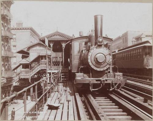 Third Avenue El at 89th Street, looking North - 1902.